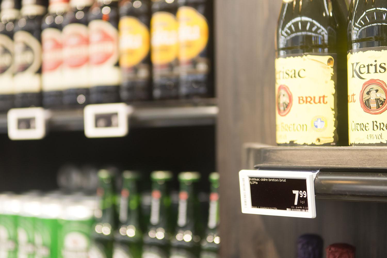 EWQ elektroninen hintanäyttö on tyylikäs valinta K-Citymarket Eastonin juomaosastolle