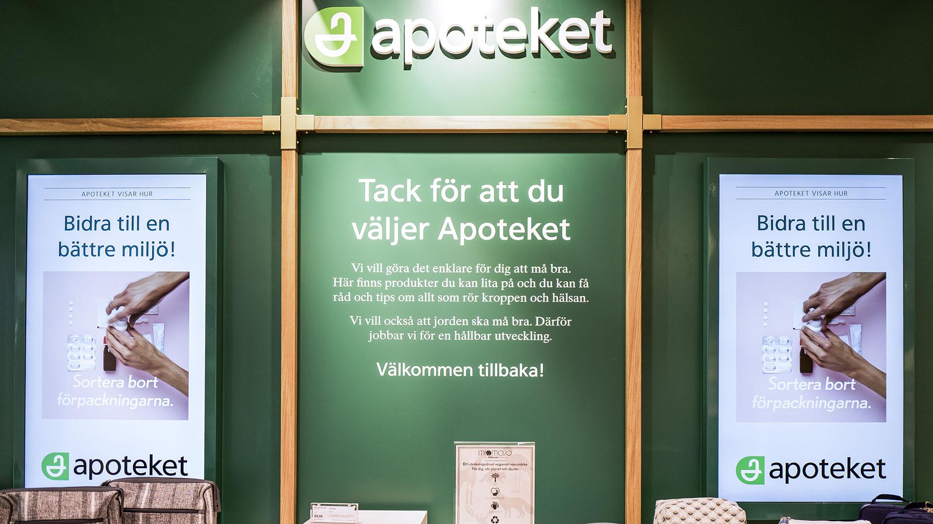 Sveriges största apotekskedja användas EWQ's Digital Signage